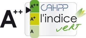 Logo indice vert cahpp a++