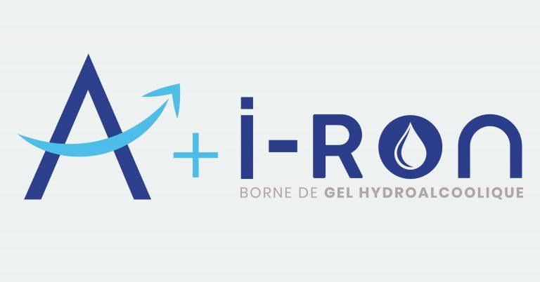 Logo Nikita + Iron borne de gel hydroalcoolique